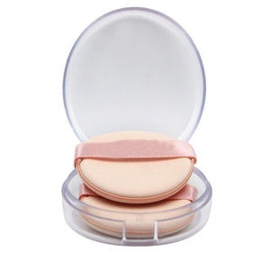 2 Pcs Round Makeup Comestic Face Blender Foundation Cleaning Sponge Beauty Sponge Puff Soft Pads Cosmetics Tool (2Pcs with 1 Case)