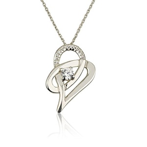 Love Heart Pendant Necklace Mother Necklace Couple's Love Pendant-925 Sterling Silver (22)
