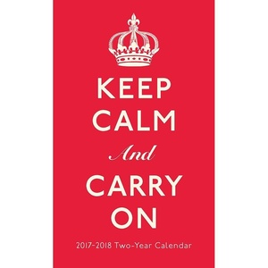 2017-2018 Keep Calm And Carry On TWO Year 29-Month Checkbook Size Pocket Planner