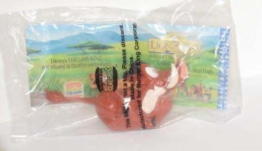 Burger King Kids Meal The Lion King Pumbaa and Timon Pull Back Toy 1994 by Bk by Bk