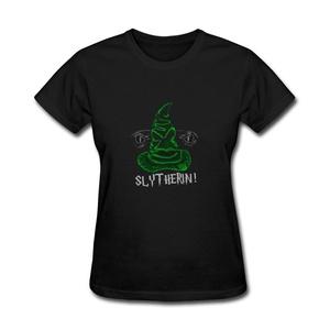 ZhiBo Women's Creative Green Sorting Wizard Hat Creepy Snake Design T-shirt Black XX-Large Women