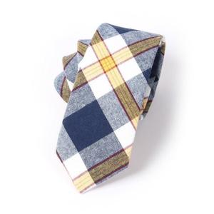Mantieqingway Men's Plaid Jacquard Skinny Necktie Cotton Tie (01)