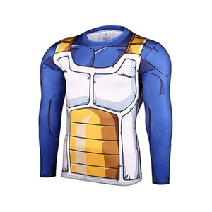 Cartoon Dragon Ball Vegeta Super Saiya Slim Fit 3D Shirt Cosplay Marvel Costume (Asian-XL)