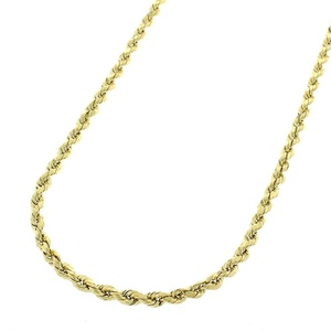 14k Yellow Gold Mens Womens 2mm Solid Rope Cable Chain Necklace 16