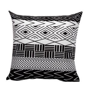 Iuhan Fashion Black And White Geometric Pattern Pillow Case Sofa Waist Throw Cushion Cover Home Decor (I)
