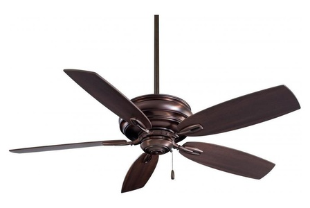 Dark Brushed Bronze 5 Blade 54In. Ceiling Fan With Blades Included