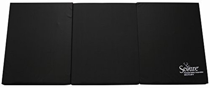 Secure Bedside Floor Safety Mat For Fall Injury Prevention, 30 X 66 X 2 Slip Resistant, Ez Clean, Flame Retardant Cover Material 30Lx 66Wx2H Black by Secure