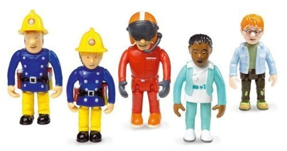 Fireman Sam Set of 5 Articulated Figures by Born To Play