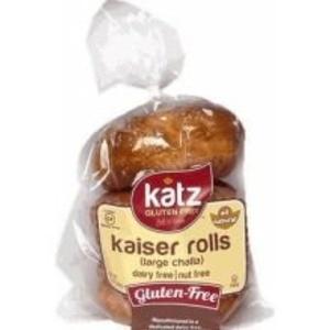 Katz Gluten Free Large Challah Kaiser Roll, 9 Ounce -- 6 per case.