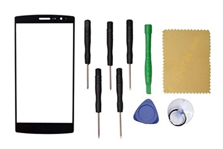 Outer Front Screen Glass Panel Lens Replacement for LG G4 mini H735 H736+Tools