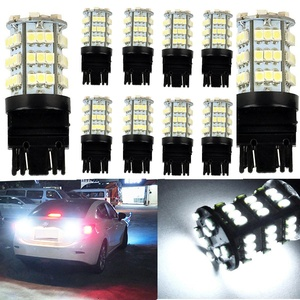 KATUR 10 x White 7443 1210 54-SMD 800 Lumens LED Turn Signal Light Bulb 12V Replacement for Car Incandescence Bulb Interior RV Camper Bulb Tail Brake Stop Parking Lights 5W