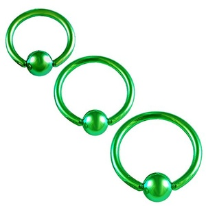 Septum Jewelry 14g Cartilage Earring Hoop 5/16, 3/8, 1/2 Inch Surgical Steel Nose Piercing Eyebrow Tragus Rook Helix Conch Lip Rings - Green