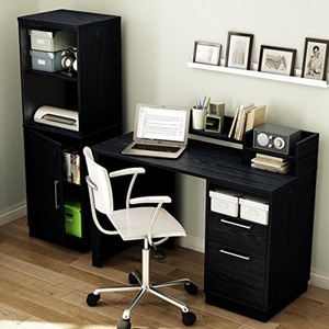 Academic Collection Black Oak Desk