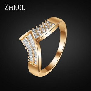 Nachonia Jewelry Gold Plated Fashion Men's Ring Crystal CZ Ring With Wing Shape For Anel FSRP150