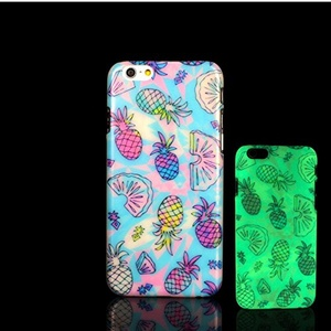 For iPhone 7 Plus Case, Glow in the Dark Pineapple Fresh Pattern TomCase Fluorescent Back Cover for iPhone 7 Plus Case 5.5 inch, P22