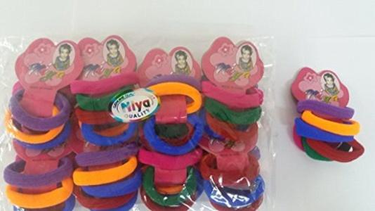 Hair Styling Hair Rubber bands,MULTICOLORED Hair Accessories FOR GIRLS (Set Of 8 ) + 1 FREE