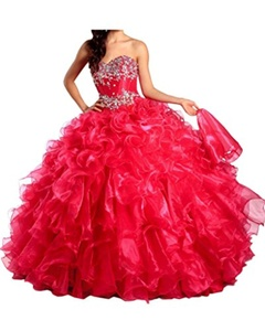 Gorgeous Bridal Ball Gown Princess Sweetheart Quinceanera Pageant Dress Rhinestones- US Size 4