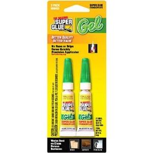 Super Glue Corp/Pacer Tech SGGM22-12 Super Glue Gel Metal, Aluminum, Rubber, Most Plastics, Ceramics, Wood, & More (2 Pack) by Super Glue