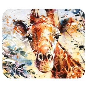DreamOffice-Custom Giraffe Mouse pad Gaming Mouse Mat Cloth Cover Support Wired Wireless or Bluetooth Mouse,9.84