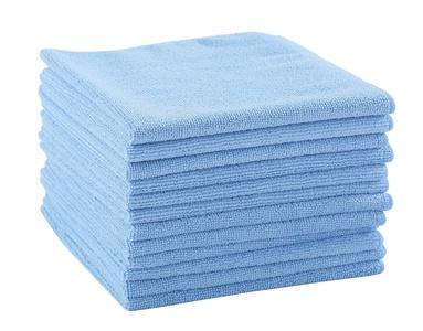 Dri 12-Pack Premium 16 in. x 16 in. Microfiber Cleaning Cloths (Blue)