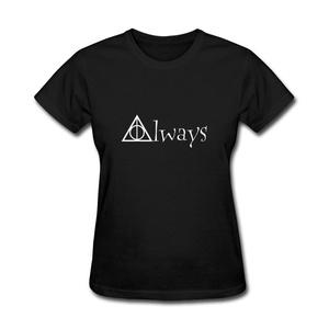 ZhiBo Women's Novelty Creative Always Design T-shirts Black X-Large Woman