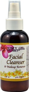 Honey Girl Organics Facial Cleanser and Makeup Remover -- 4 fl oz