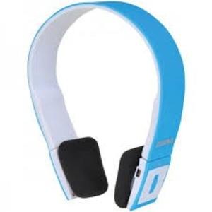 SYLVANIA SBT214-BLUE Bluetooth Headphones with Microphone (Blue)
