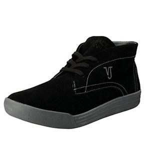 Versace Jeans Men's Black Suede Leather Lace Up Boots Shoes US 11 IT 44