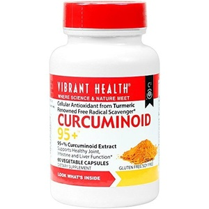 Vibrant Health - Curcuminoid-95+ - Cellular Antioxidant from Turmeric, 60 count by Vibrant Health