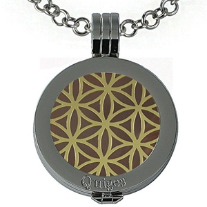 Quiges - Women Stainless Steel Necklace with 25mm Coin Locket and Coin Tree of Life/Flower of Life #1097
