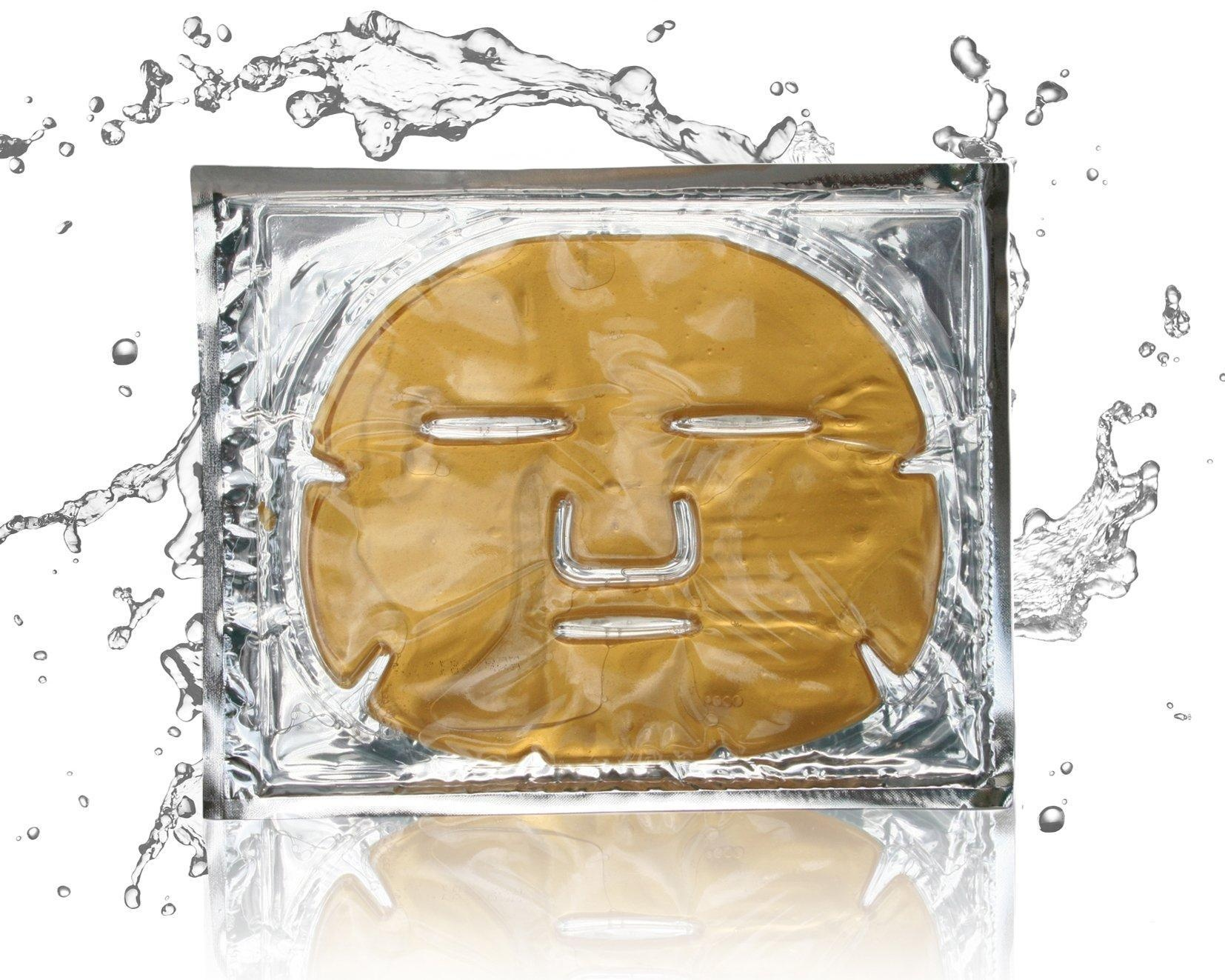 24 Karat Gold Face Facial Face Mask, Look Younger and Rejuvenated In Minutes, Intense Hydration, Collagen, and Peptides Energize Skin While Reducing Fine Lines and Wrinkles