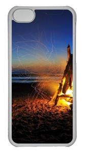 Beach Bonfire Custom iPhone 5C Case Cover Polycarbonate Transparent