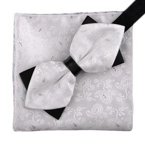Men's Business Suits Tie& Pocket Towel Wedding/Party Bow Tie Set Best Gift-A5