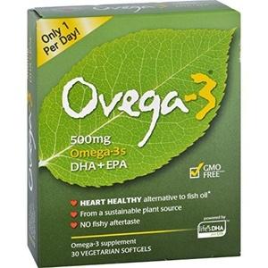 Ovega 3 Vegetarian Omega, Softgel, Pack of 2 by OVEGA-3