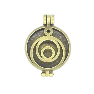 5pcs/lot Bronze 30mm Round Locket Circle Pendant Aromatherapy Essential Oil Diffuser For Necklace DIY