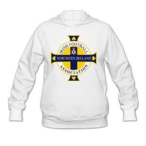 Kamifa Northern Ireland Football Womens Pullover Hoodie White SizeX-Large