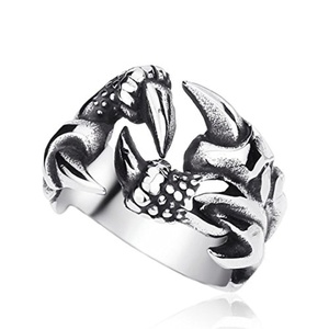 ARICO Unique Dragon Claw Ring for Men Fashion Stainless Steel Man Jewelry Biker Trendy 12.0