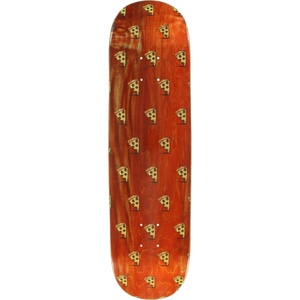 Pizza Emoji Pattern Skateboard Deck -8.0 DECK ONLY