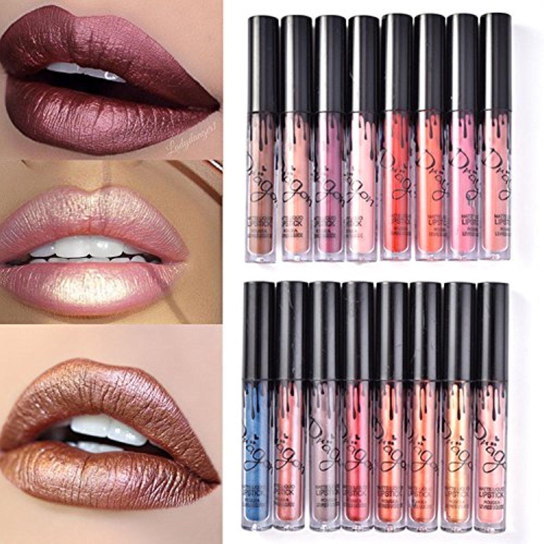 SHERUI 4pcs Madly MATTE Lipstick Lipgloss Bold Vivid Color Matte Lipgloss