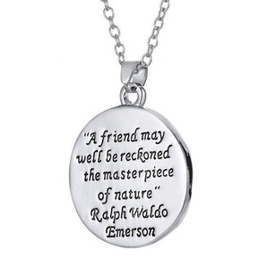 Gudeke Fashion Simple Womens Mens Tree of Life Lettering Necklace Pendants 52cm Chain