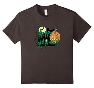 Kids Happy Halloween Jack Lantern T-shirt for Men, Women, Kids 6 Asphalt