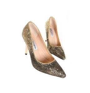 Huafeiwude Womens Elegant High Heels Pointy Close Toe Stiletto Pumps Shoes Gold 39