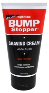 High Time Bump Stopper Shaving Cream With Tea Tree Oil 5 oz. Tube by High Time