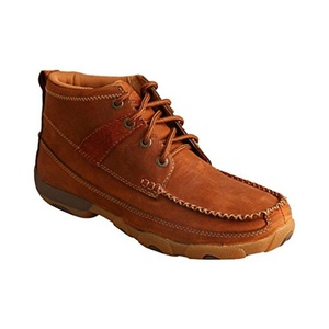Twisted X Women's Oiled Saddle Lace-Up Driving Shoes Moc Toe