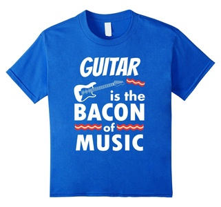 Kids Guitar is the Bacon of Music T-Shirt Guitar Gifts Shirt 10 Royal Blue