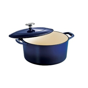 Tramontina Enameled Cast Iron Covered Round Dutch Oven, 5.5-Quart, Gradated Cobalt by Tramontina