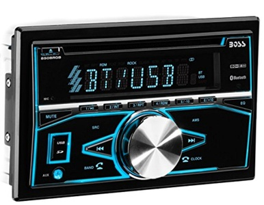 Boss Audio Systems 850BRGB Boss Audio Bluetooth Double Din MP3 CD Am/FM Receiver