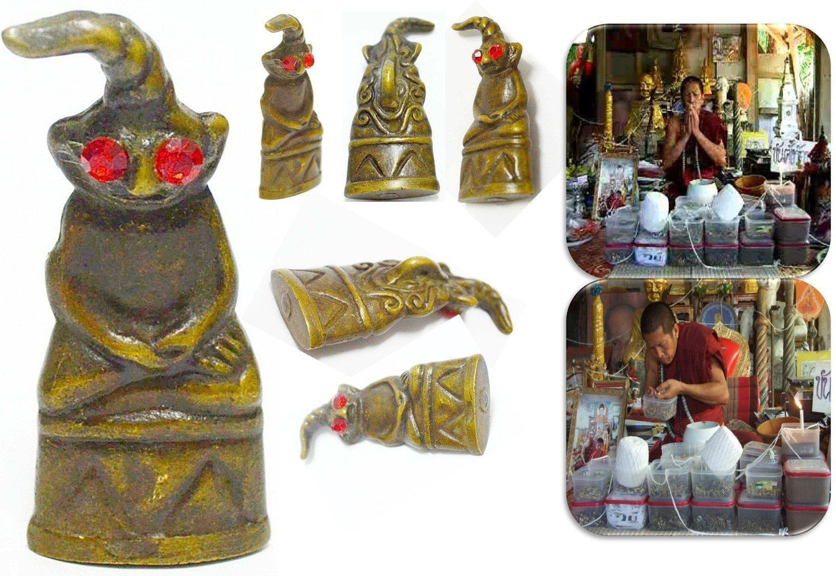 Online store phra ngang red eyes cambodia amulet fully for Does buddha bring good luck