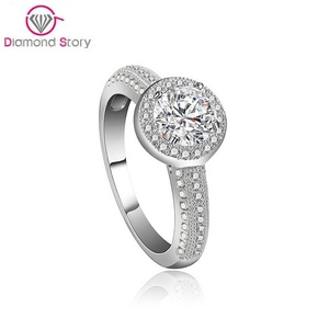 Cherryn Jewelry Brand Lovely Women Finger Accessories Platinum Plated Micro Inlay Shiningar CZ Cocktail Ring Unique Jewelry