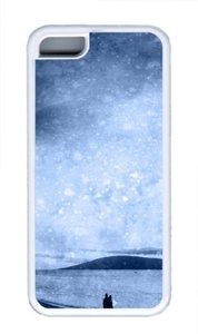 Beach Silhouette Custom iPhone 5C Case Cover TPU White